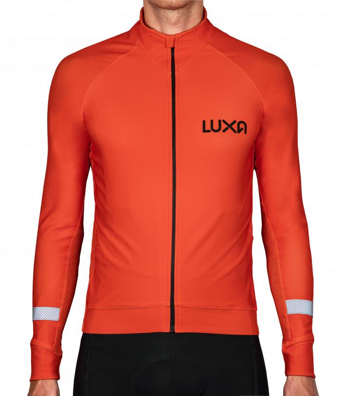 Orange Vision Long Sleeve Cycling Jersey