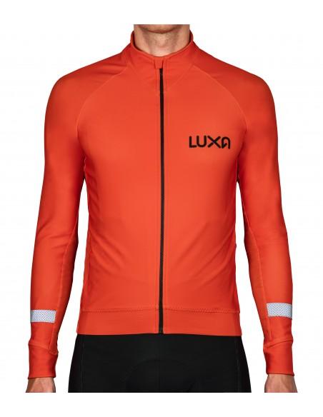 Pomarańczowa bluza kolarska Luxa Orange Vision