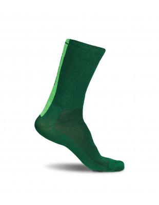 Deep Green Luxa Cycling Socks. Selected yarns