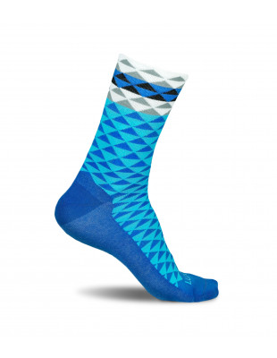 Asymmetric Blue Cycling Socks by Luxa