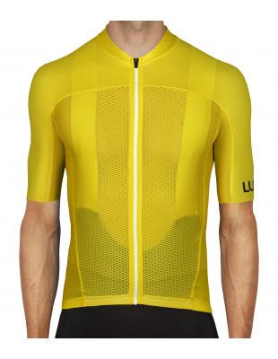 Przód żółtej koszulki kolarskiej na upały Amarello