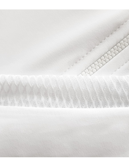 white fabric with breathable properties. Perfect for cycling