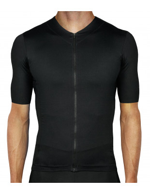 Luxa Secret Black cycling jersey. No logo, totally unbranded