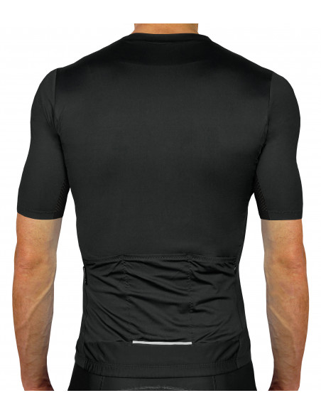 without imprints - pure minimalism. Luxa Secret Black Cycling Jersey - back
