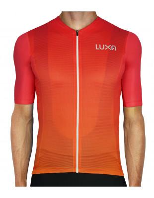 Kolory zachodzącego słońca - Koszulka Kolarska Sunset (ombre) wyprodukowana w Polsce | Luxa