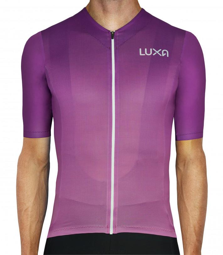 Intensywnie fioletowa koszulka dla kolarzy - Aurora | Luxa