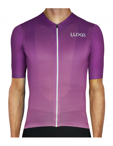 Purple Aurora cycling jersey (ombre gradient) Made in Europe by Luxa