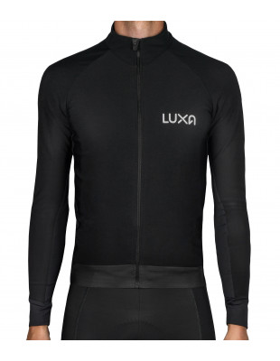 Czarna Bluza Rowerowa Midnight na jesień - Luxa