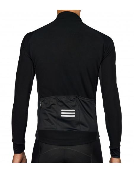 Tył czarnej bluzy rowerowej Midnight - Luxa