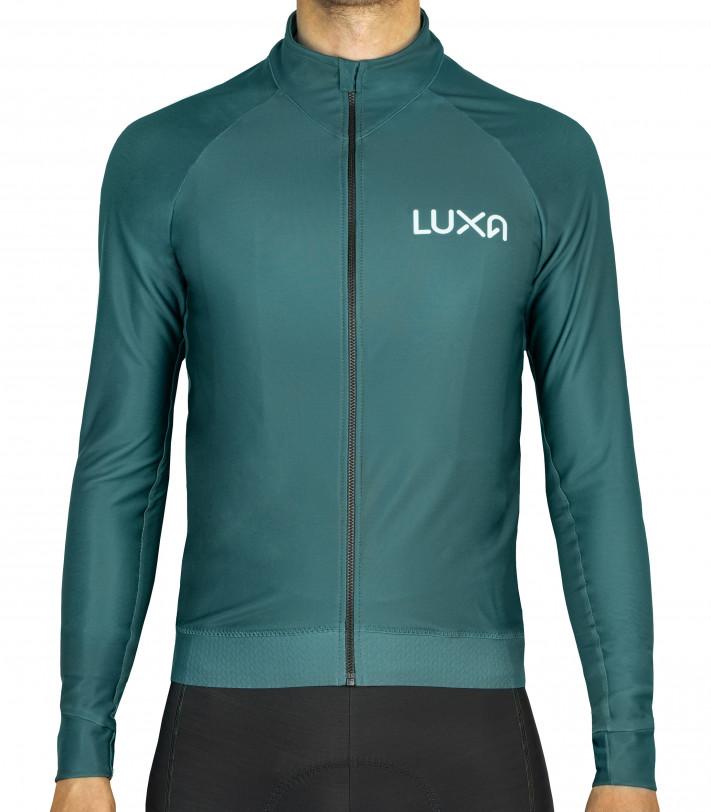 Bluza kolarska w zielonym kolorze. Wyprodukowana w Polsce.