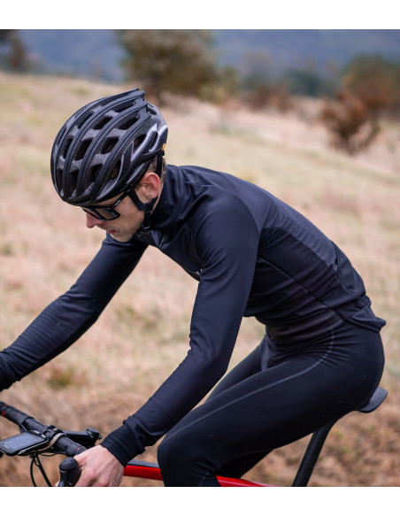 cycling season never ends with Midnight  black winter jacket