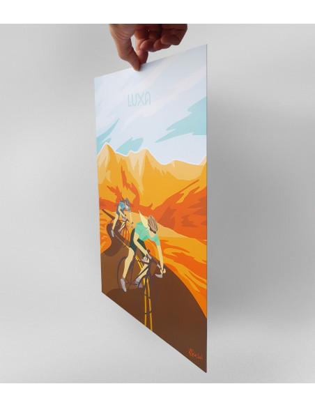 sztywny plakat dla rowerzysty, gruby kredowy papier nie marszczy się