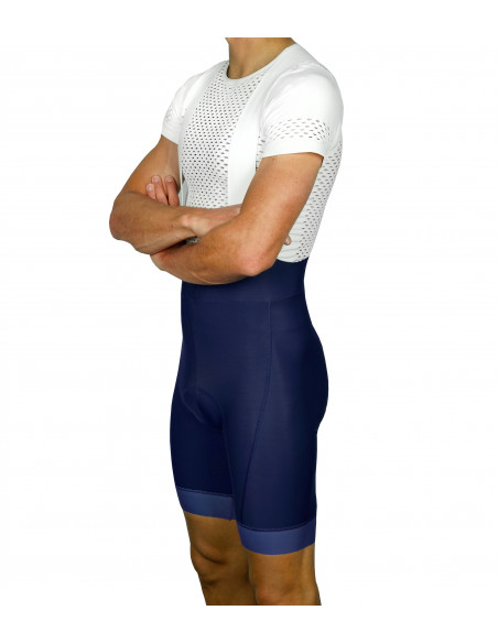 Navy deep dyed fabric color. Luxa bib's with Dr Pad chamois