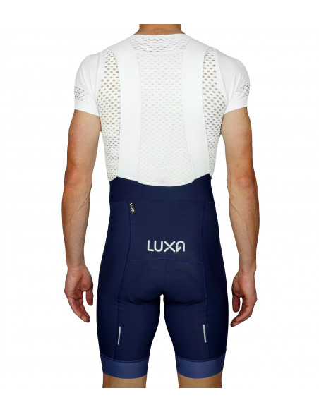 bib shorts features reflective elements on the back