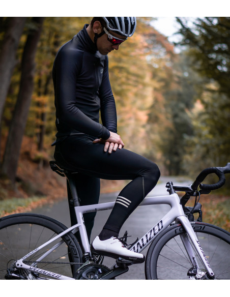 Autumn cycling kit. Reflective Premium Tights + Winter jacket