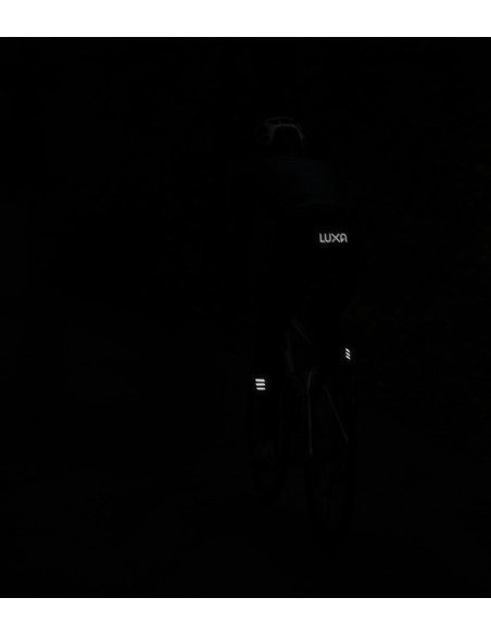 cyclist on the dark. Be visible on the night.