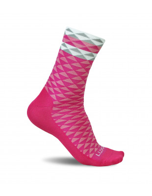 Luxa Pink Cycling Socks