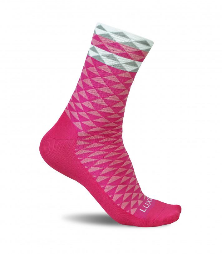 Luxa Pink Cycling Socks