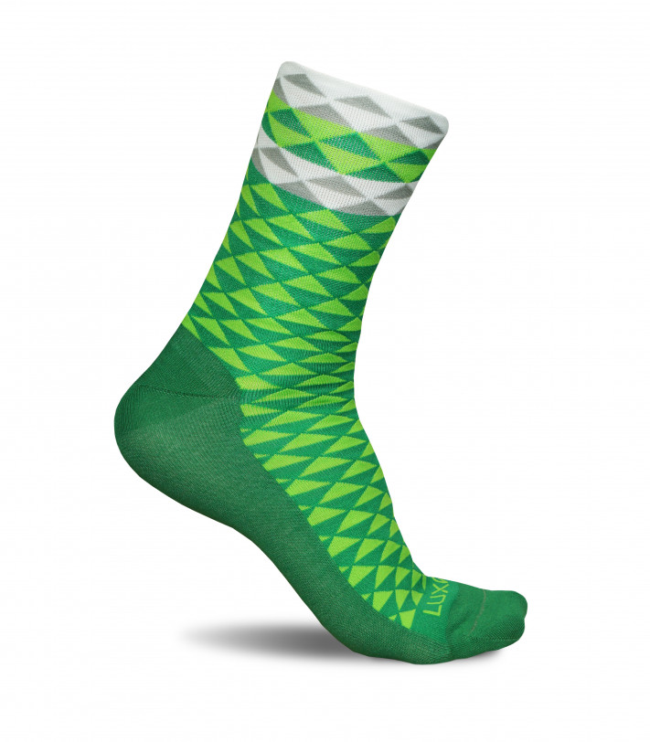 Green Cycling Socks made in Europe