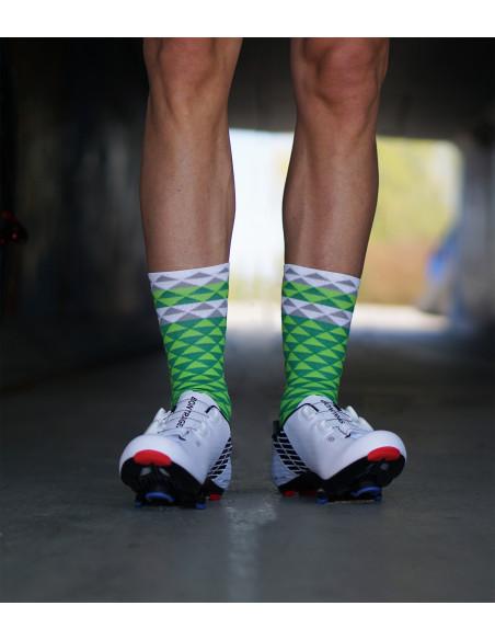 Zielone skarpety kolarskie Luxa. Oddychające