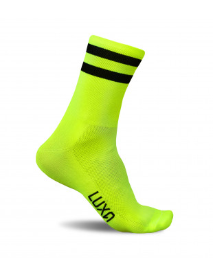 Luxa Classic Fluo cycling socks with stripes at the top