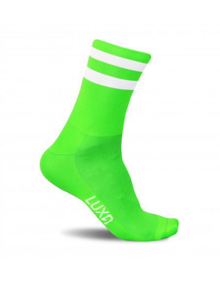Skarpety Luxa dla kolarzy w kolorze zielonym fluo.