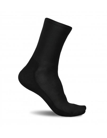 Minimalist Black design. No logo, deep black color in this Luxa cycling socks.