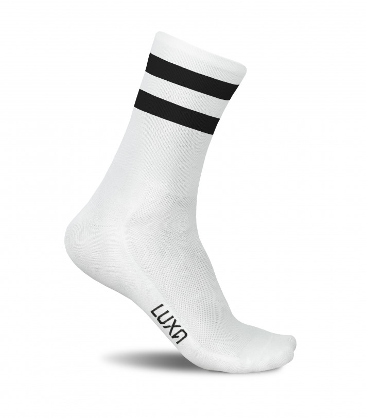aesthetical minimalism design. Luxa plain White Night Socks.