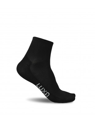 Short black cycling Luxa socks. Length under ankle.