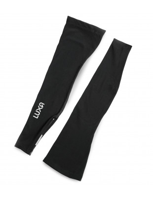 Luxa Black leg warmers with reflective properties