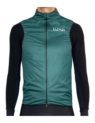 Bottle Green gilet for road cyclist - Luxa Verde