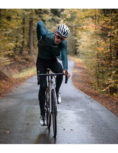 kamizelkę rowerową Verde można rozpiąć dolnym suwakiem w czasie jazdy rowerem