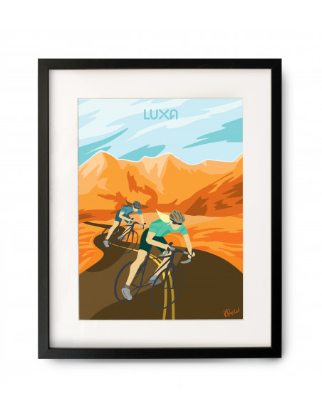Freedom - Cycling Poster with optional frame
