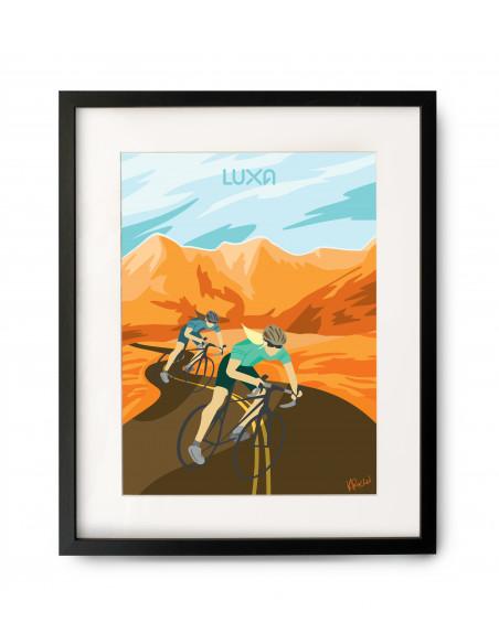 Plakat rowerowy Luxa do powieszenia na ścianę oprawiony w ramkę