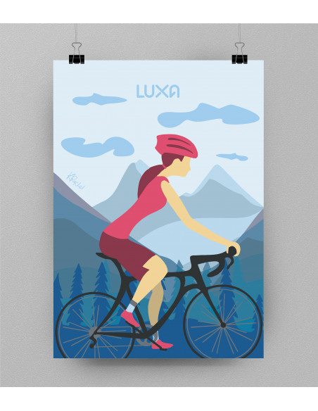 Chill ride poster without frame (optional) Thick 350g chalky paper