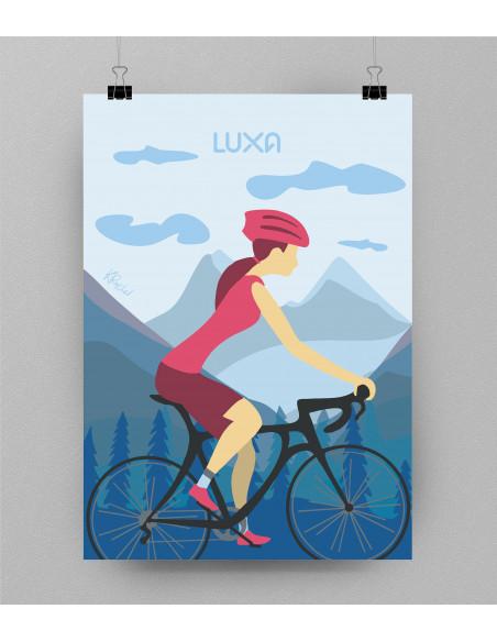 Sam plakat kolarski bez ramki. Idealny prezent dla rowerzysty