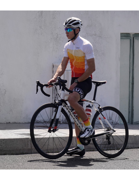 cyclists wear Tenerife Luxa cycling kit