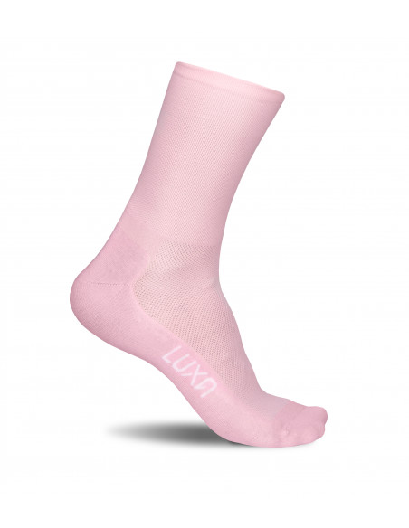 Rose Moon light and bright pink color cycling socks made in Europe