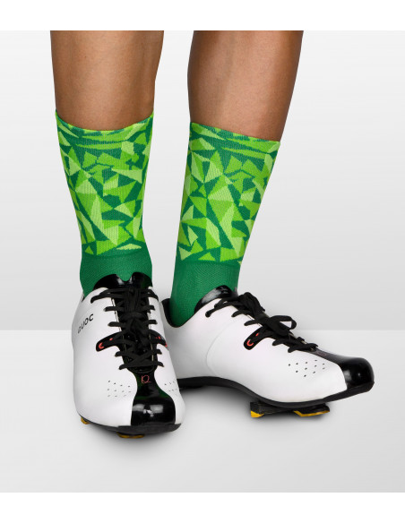 Luxa green socks for men and women. Can be matched with neutral shoes color