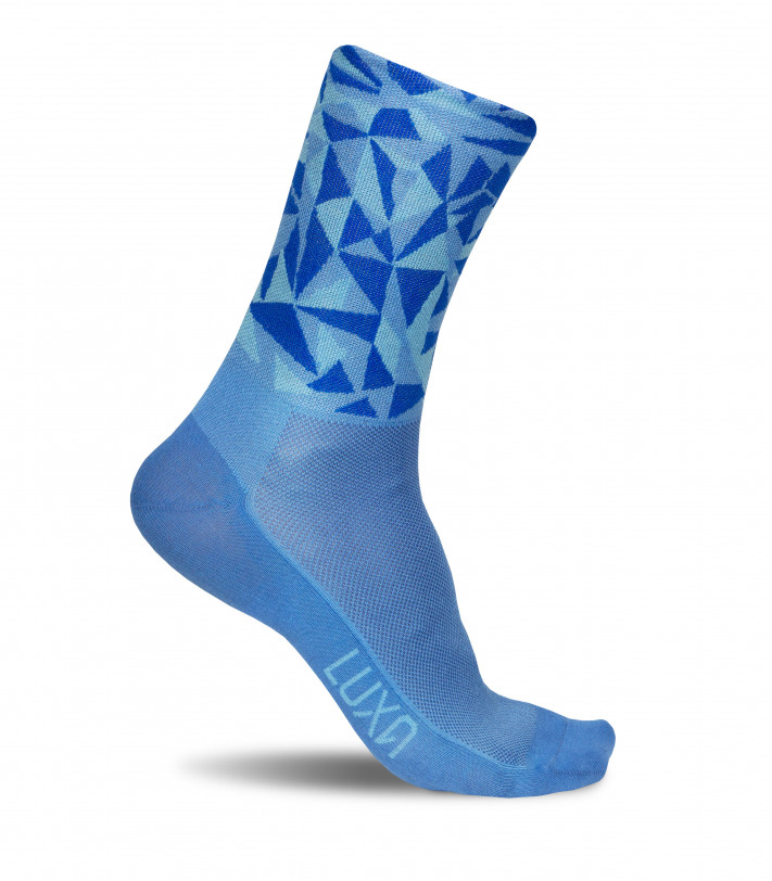 eco-friendly blue cycling socks. Made in EU by Luxa