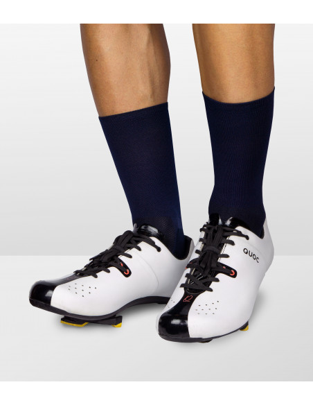 Classy look on the road. Classic deep navy cycling socks