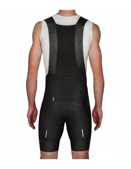 back of the Luxa bib shorts