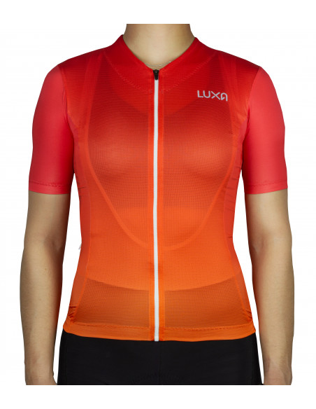 Cycling apparel for women's in ombre sunset color design
