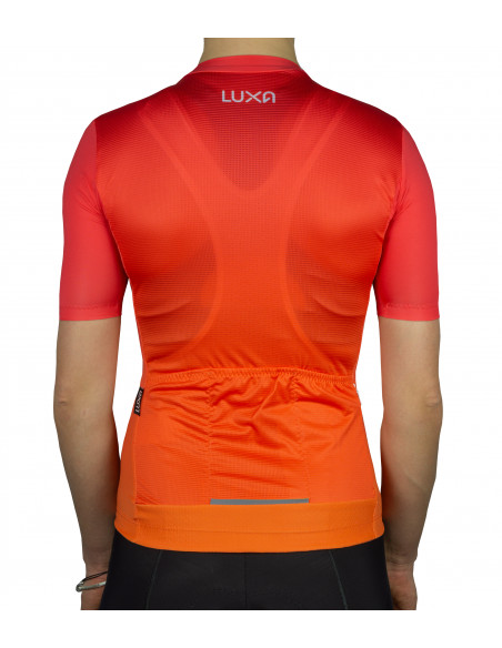 back of the women's cycling jersey with clean design.