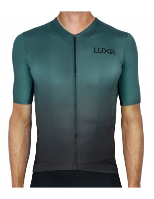 Galaxy Green Jersey for cyclists made by Luxa in Europe