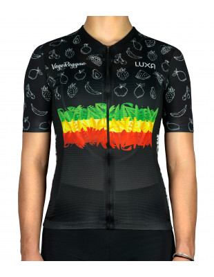 Vegan women's cycling jersey made by Luxa