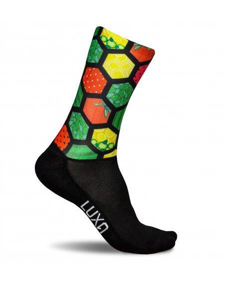 Luxa Plant Power colorful aerodynamic cycling socks made of aero material