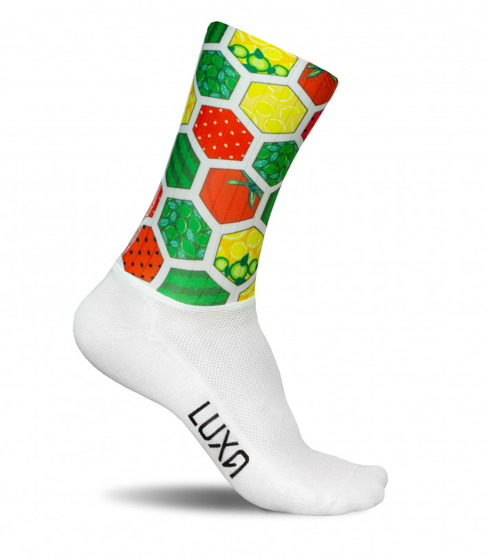 Colorful pattern inspired by fruit colors. Aero fabric