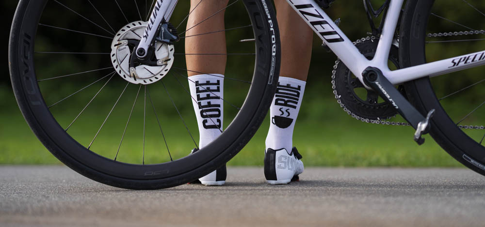 Luxa socks for road cyclists made in europe coffee ride design