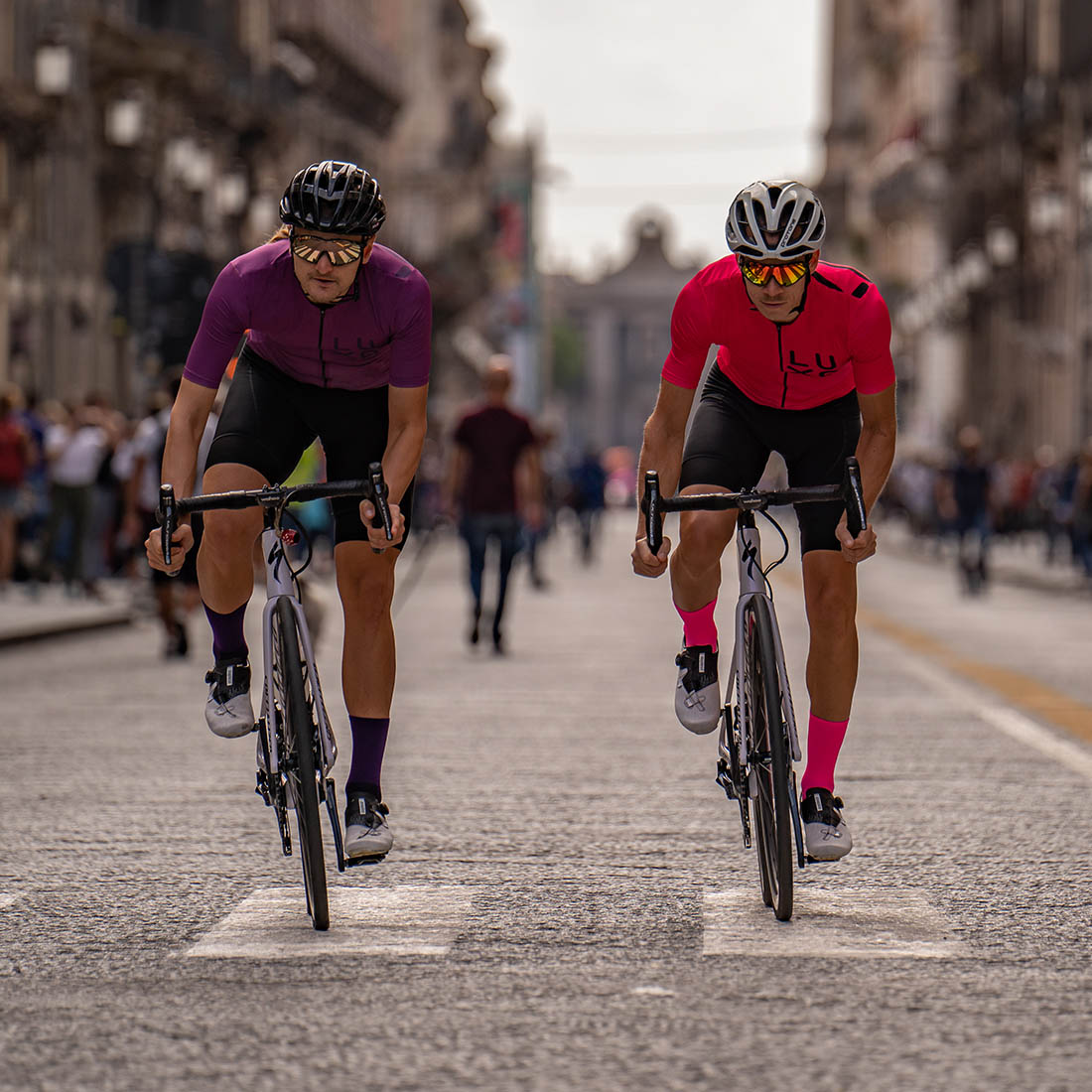 road cycling kit tested in Sicily (Catania) before giro d'italia stage